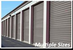multiple storage unit sizes